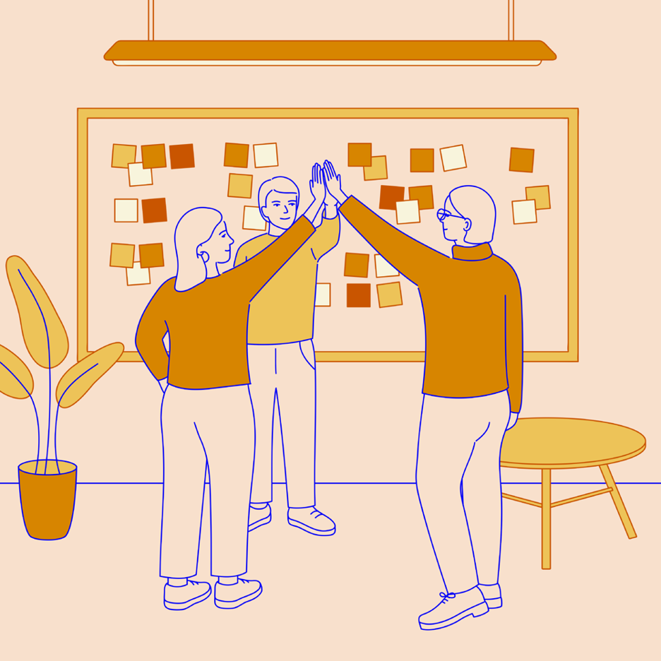 mixkit-co-workers-doing-a-high-five-after-a-planning-meeting-396-desktop-wallpaper
