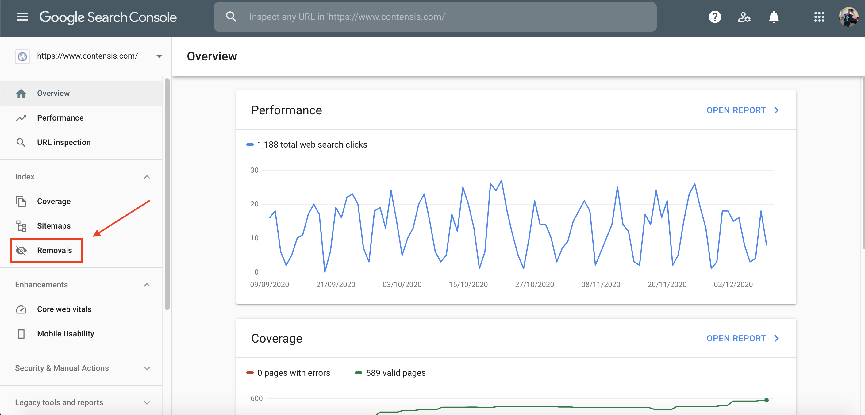 Removing a URL from Google index in Google Search Console